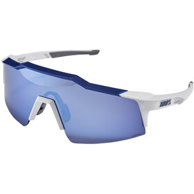 100% Speedcraft Occhiali S, matte white/blue